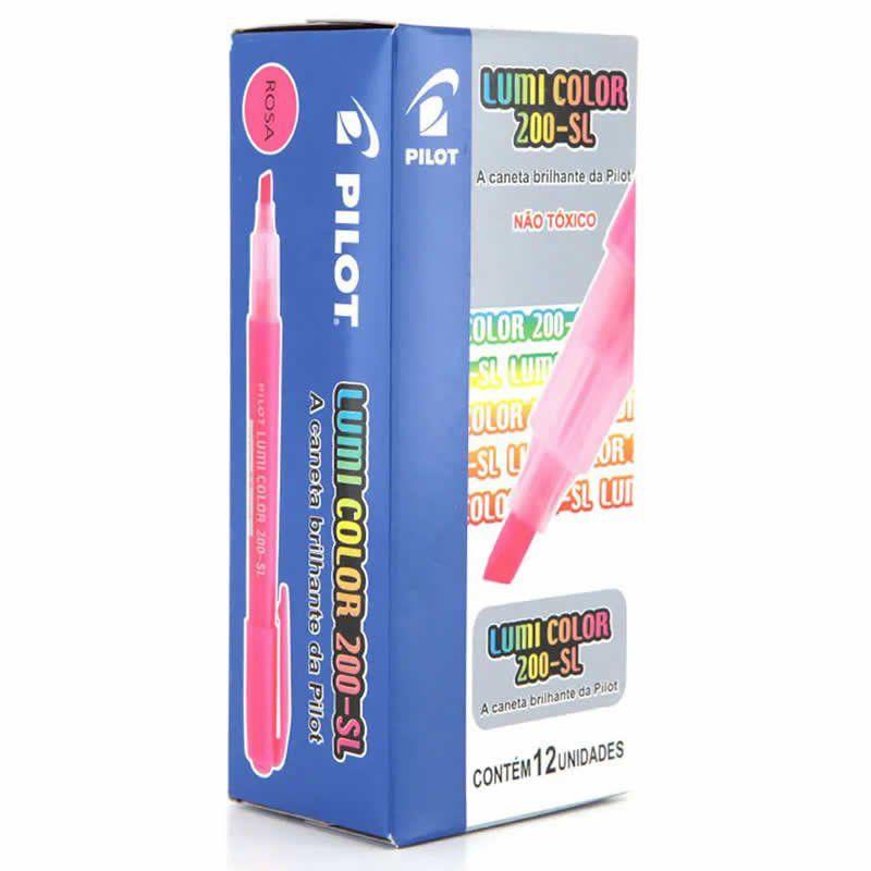 Marcador de Texto Lumi Color Rosa Caixa Com 12 Un. 200-SL Pilot 14974