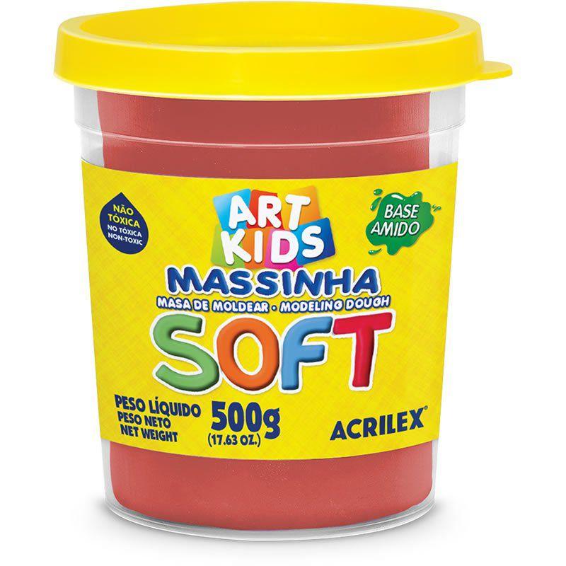 Massa de Modelar Acrilex Base Amido Soft Pote 500G Vermelho 103 07306 25077