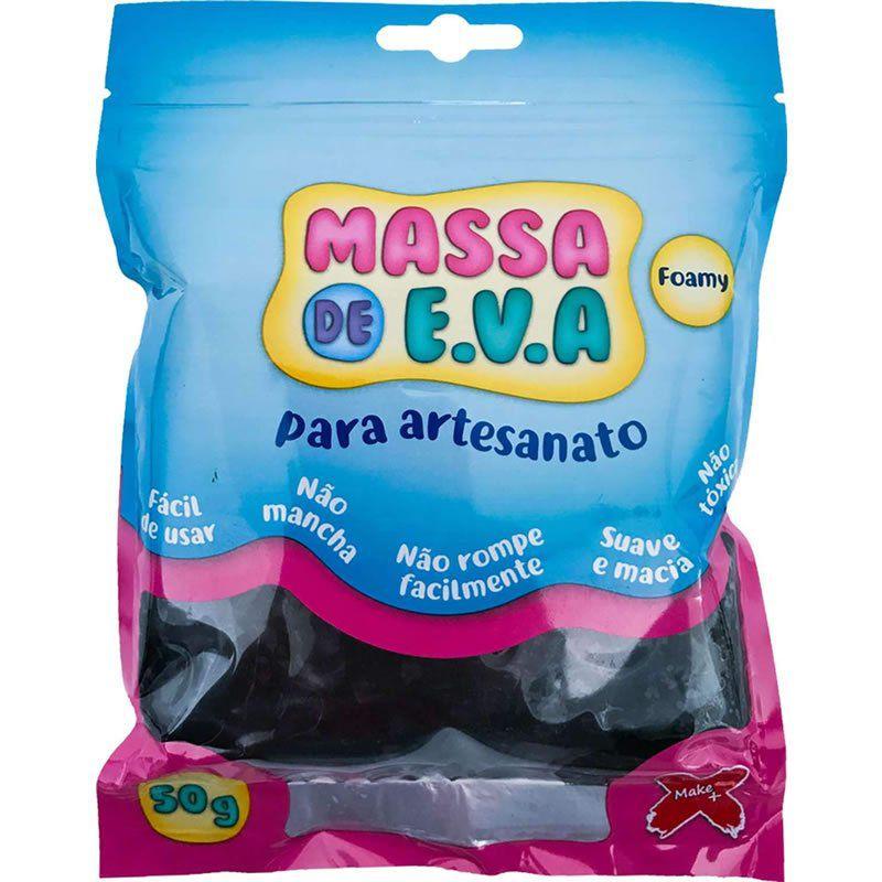 Massinha de E.V.A Make+ Preto 50G 13007 26777