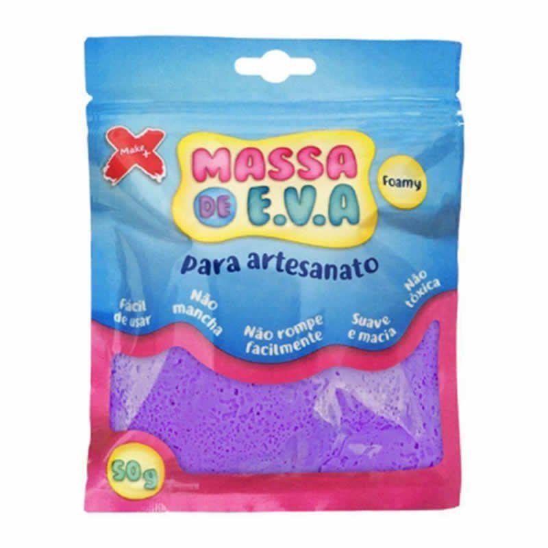 Massinha de E.V.A Make+ Roxo 50G 13010 26779