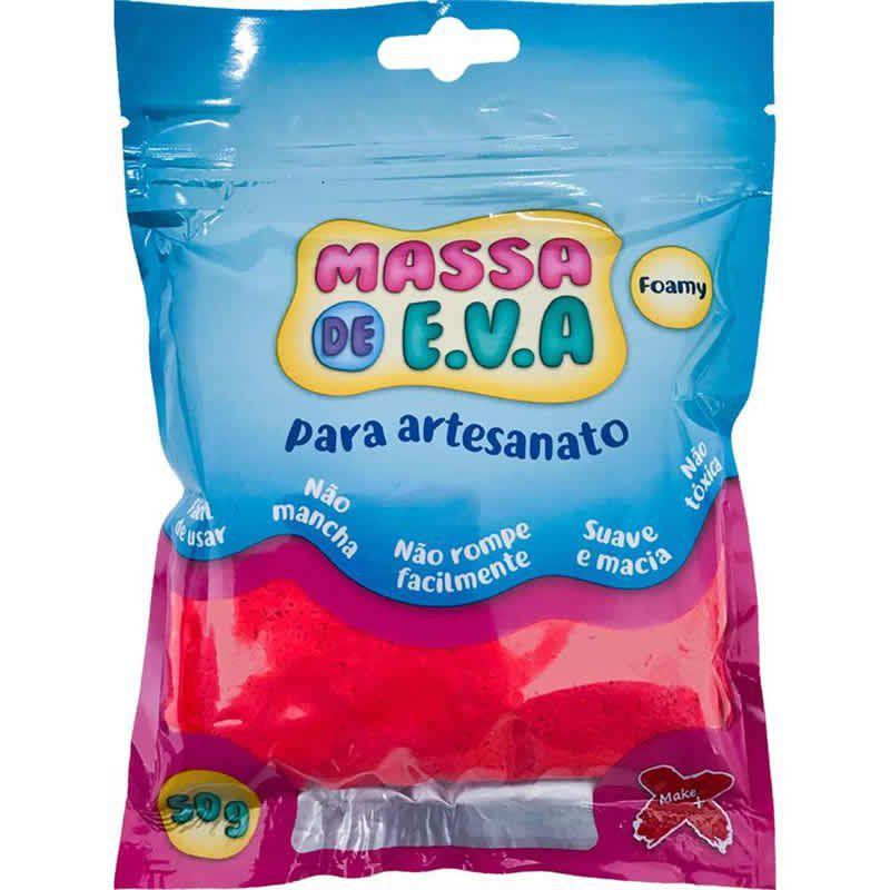 Massinha de E.V.A Make+ Vermelho 50G 13014 26781