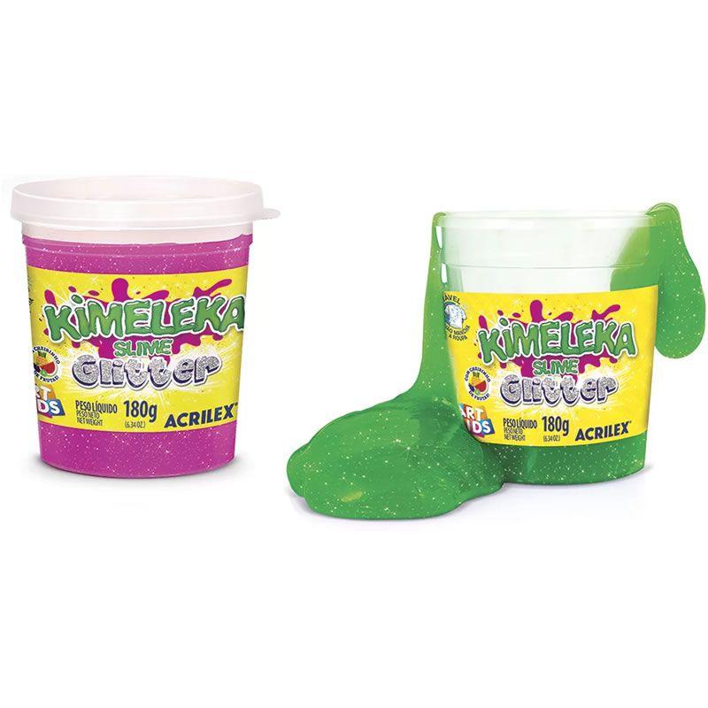Massinha Slime Glitter Kimeleka Acrilex 180G Sortido 05822 26993