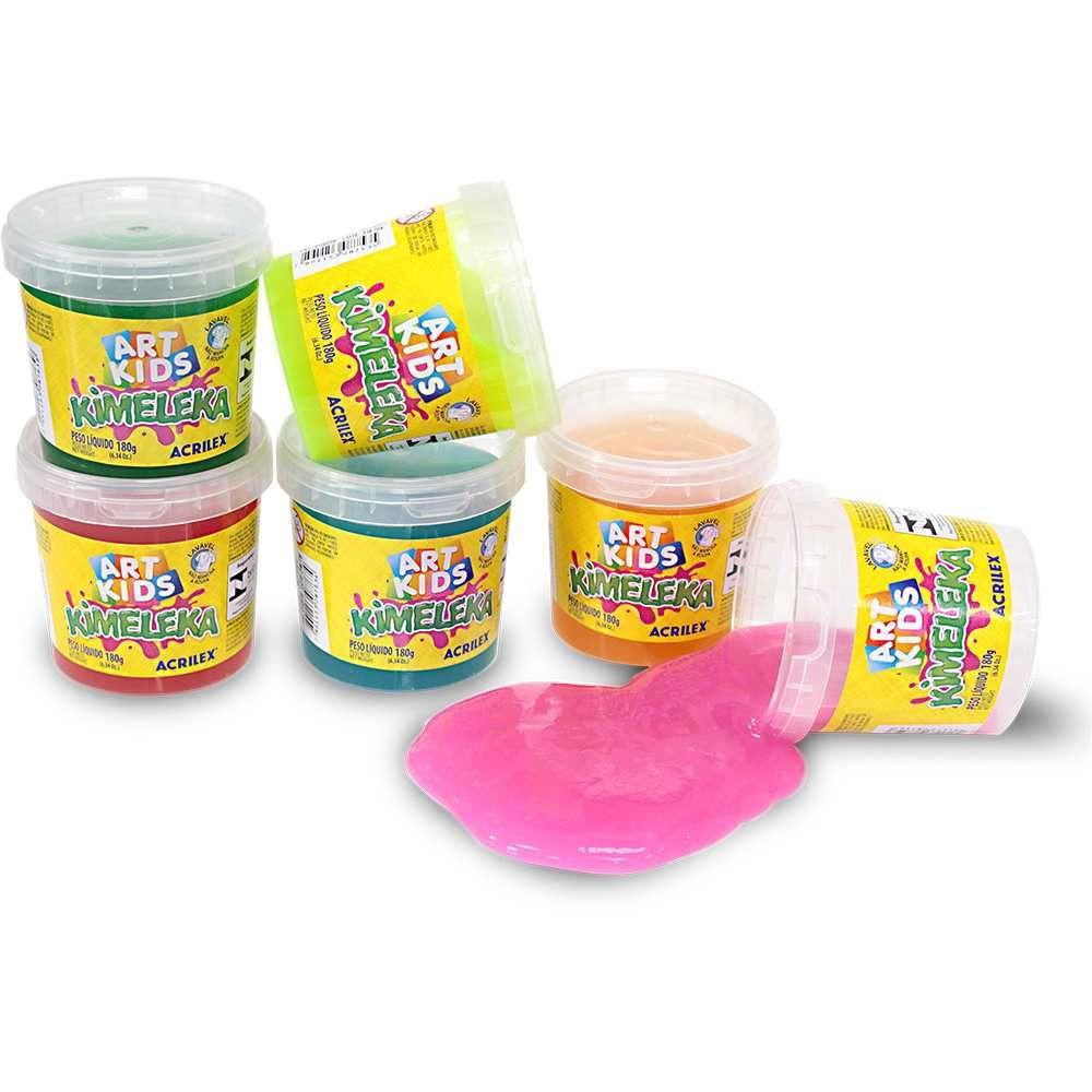 Massinha Slime Kemeleka Acrilex 180G Sortido 05832 26992