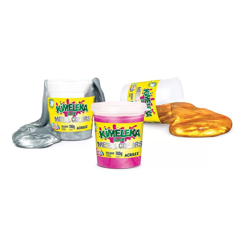 Massinha Slime Metalica Kimeleka Acrilex 180G Sortido 05832 07552