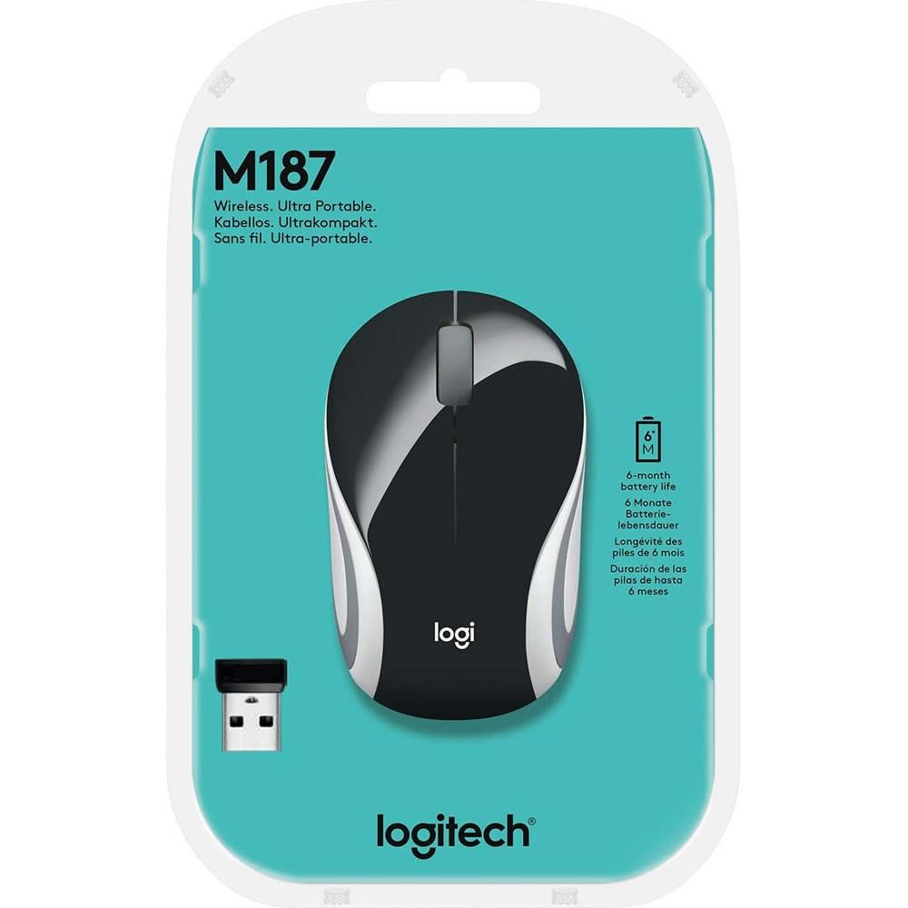 Mini Mouse Sem Fio M187 Preto Logitech 20626