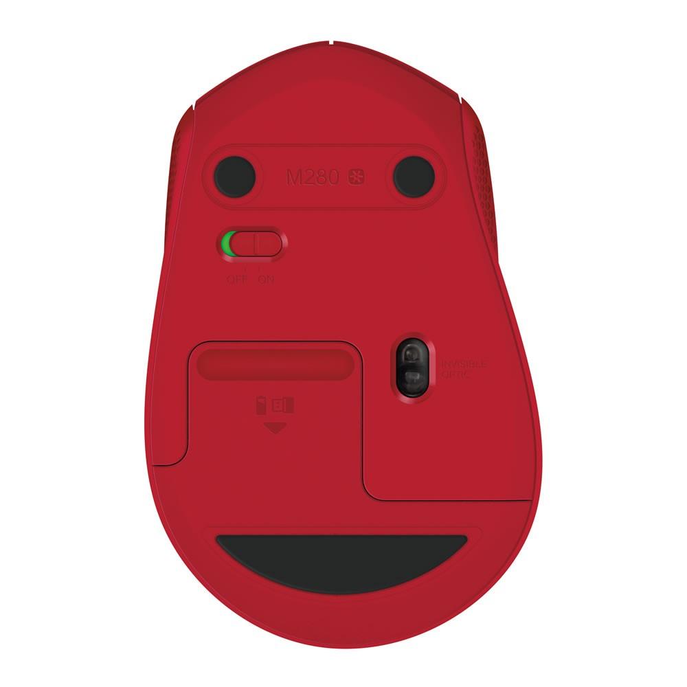 Mouse Logitech Sem Fio RC Nano M280 Vermelho 27118
