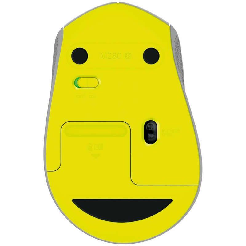 Mouse Logitech Sem Fio M280 RC Nano Cinza 27134