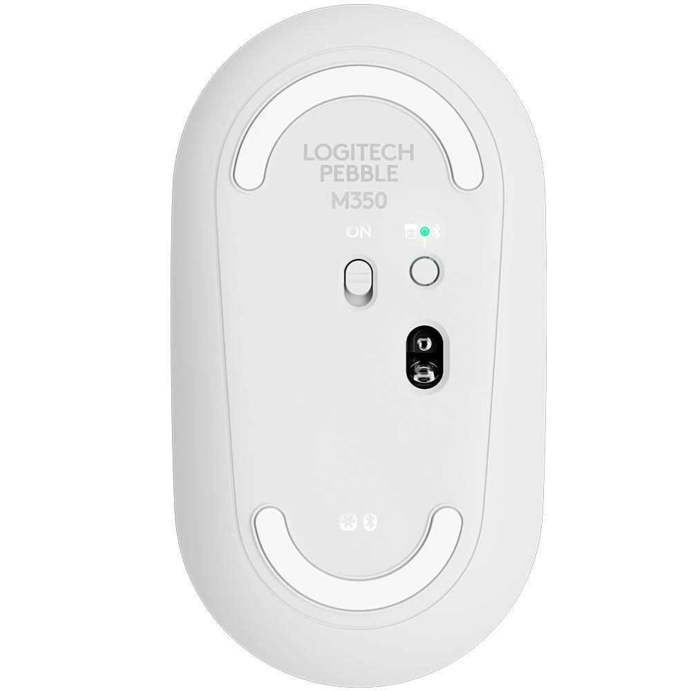 Mouse Logitech Sem Fio Pebble Branco M350 29823
