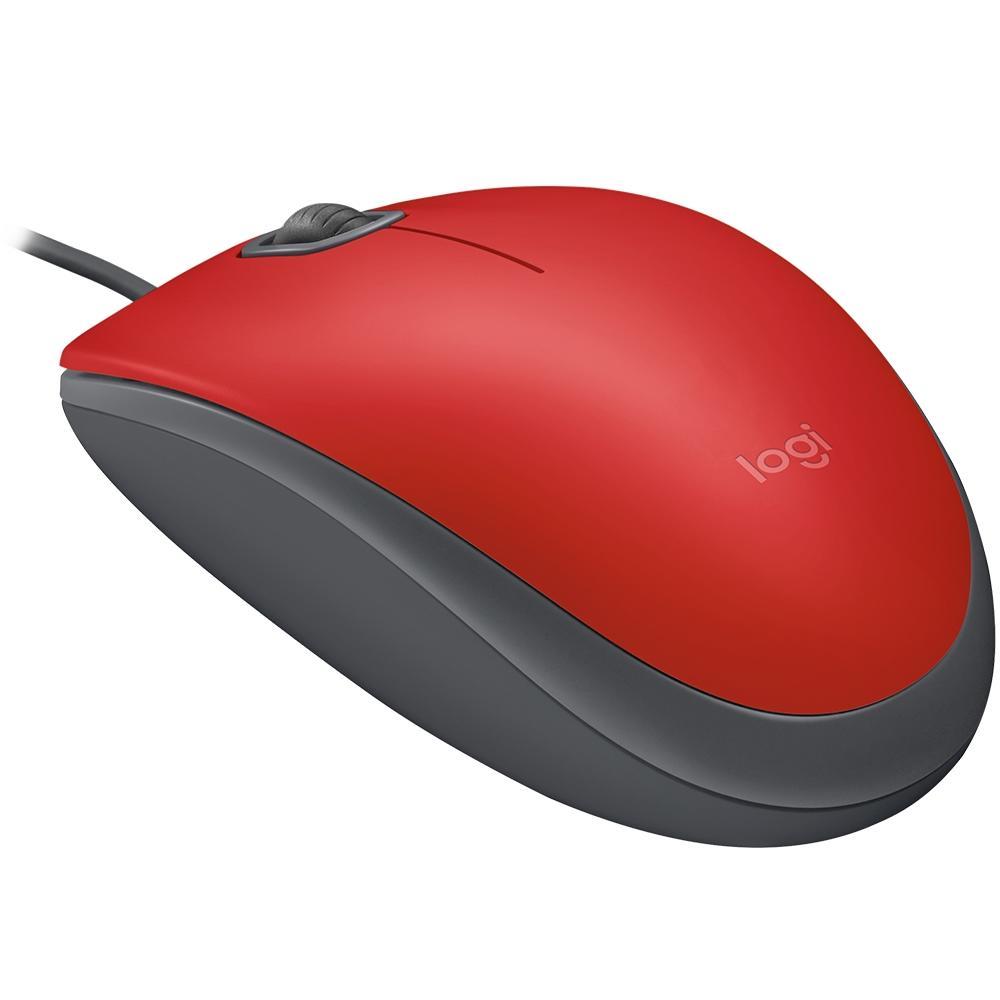 Mouse Logitech Silent USB Vermelho M110 27520