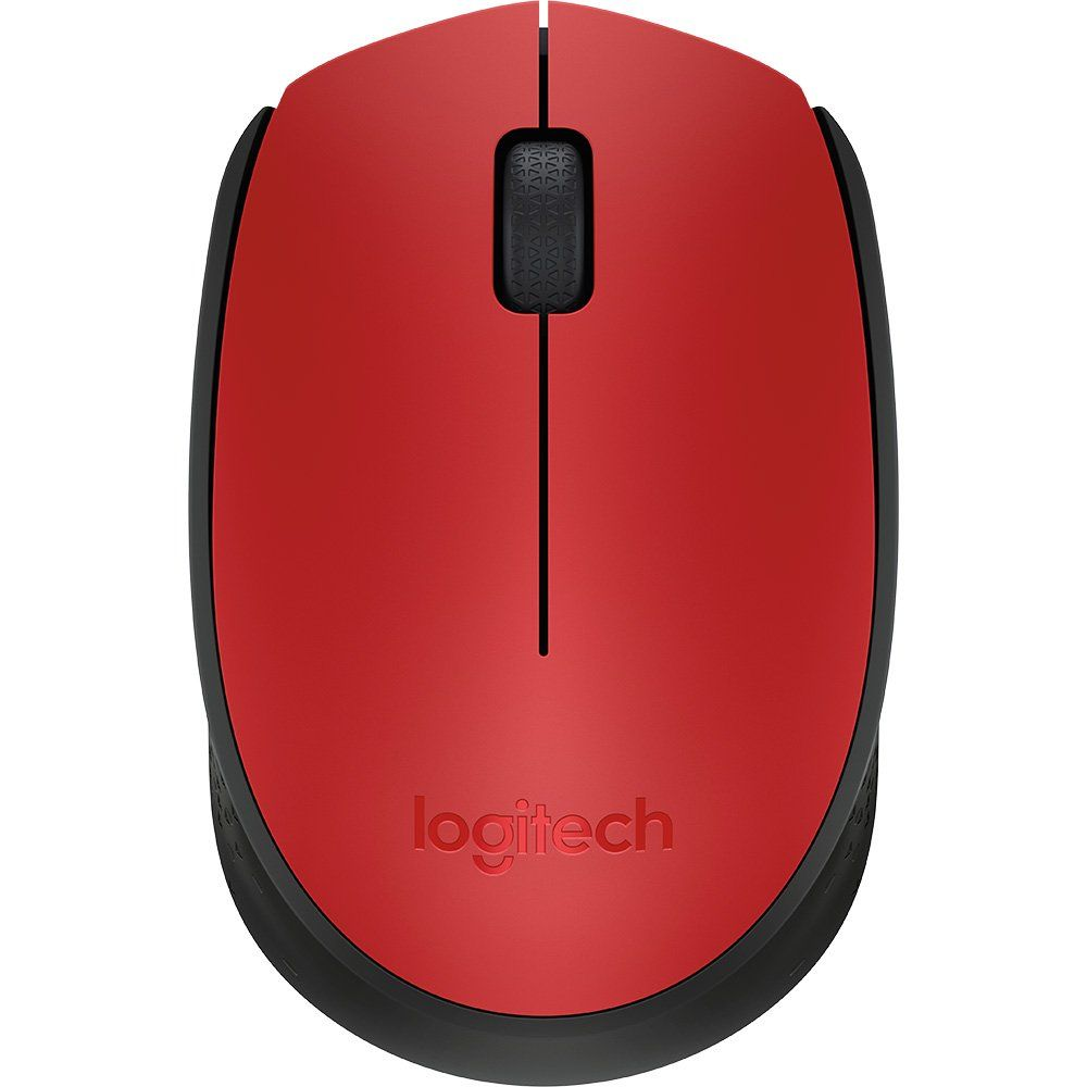 Mouse Logitech Wireless M170 Vermelho 25567