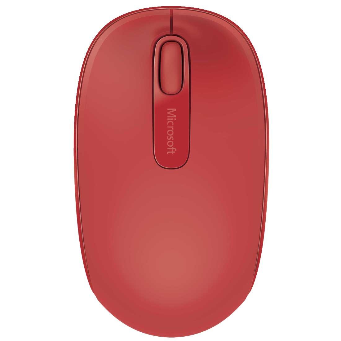 Mouse Microsoft Sem Fio Mobile USB Vermelho U7Z00038 27698