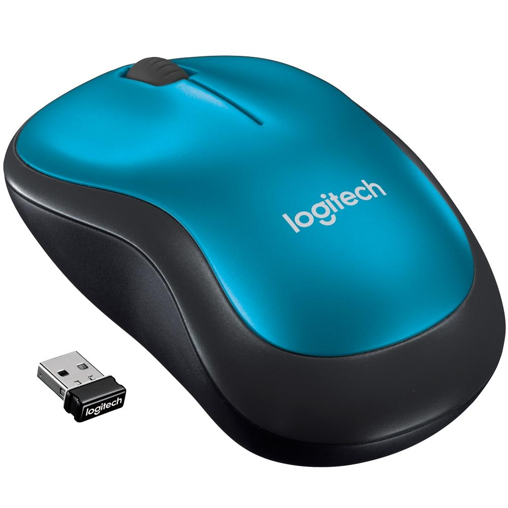 Mouse Mini Sem Fio RC Nano M185 Azul Logitech 24950