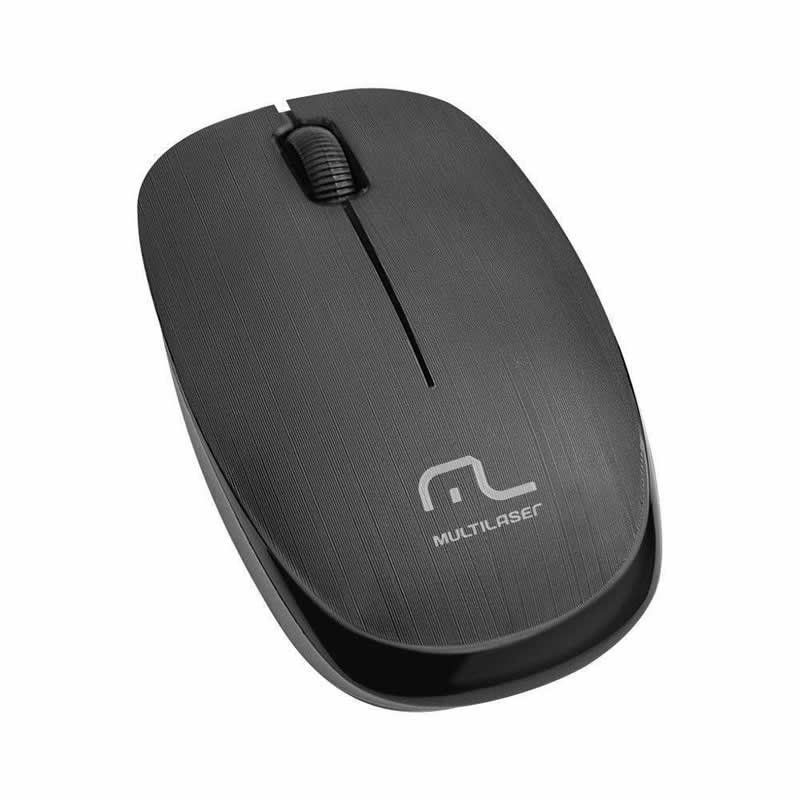 Mouse Sem Fio 2.4 Ghz 1.200 dpi Preto MO251 Multilaser 23982