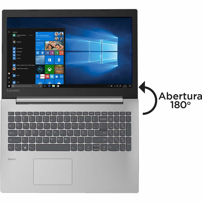 "Notebook Lenovo Intel Core i3-6006U 4GB 1TB Tela 15.6"" Windows 10 IdeaPad 330 81FD0002BR Prata 27104"