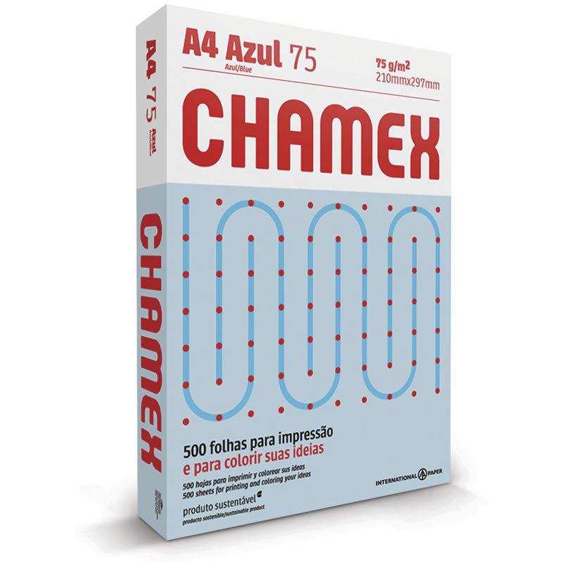 Papel A4 Chamex Colors Azul 75g Com 500 Fls 15648