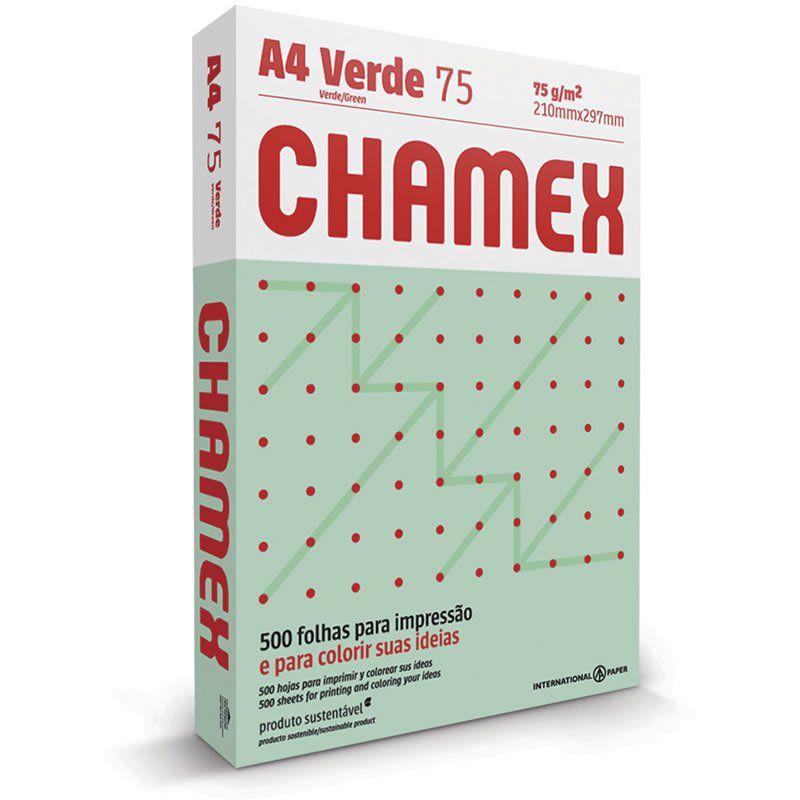 Papel A4 Chamex Colors Verde 75g Com 500 Fls 15651