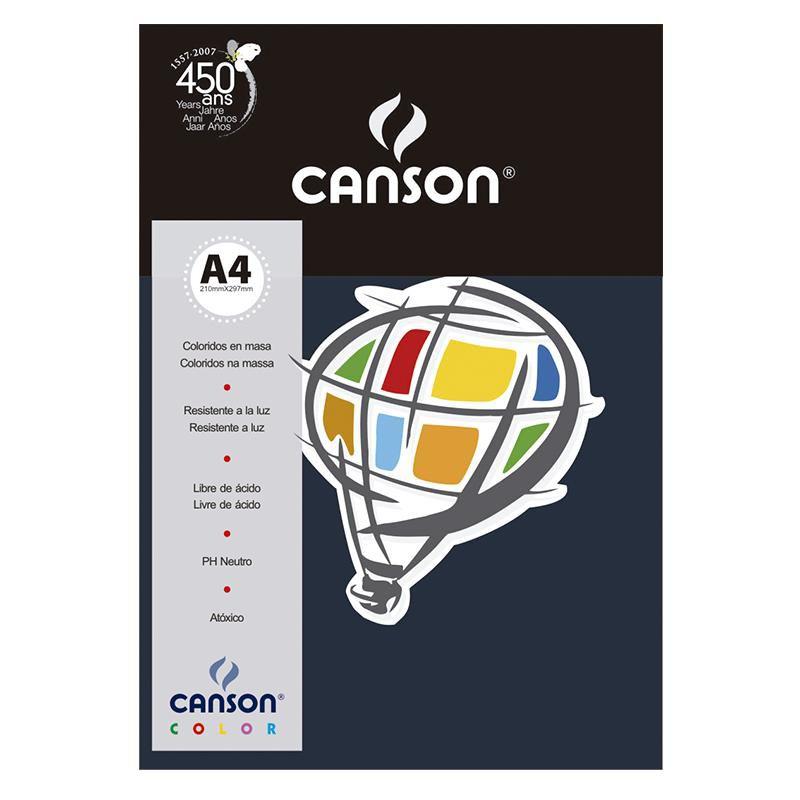 Papel Canson Color Azul Marinho 120G/M2 A4 210X297mm 15 Fls 66661228 27885