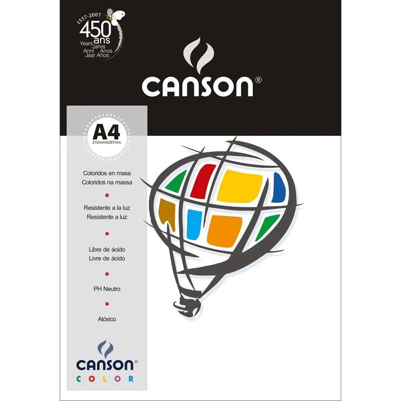 Papel Canson Color Branco 180G/M2 A4 210X297mm 10 Fls 66661186 27868
