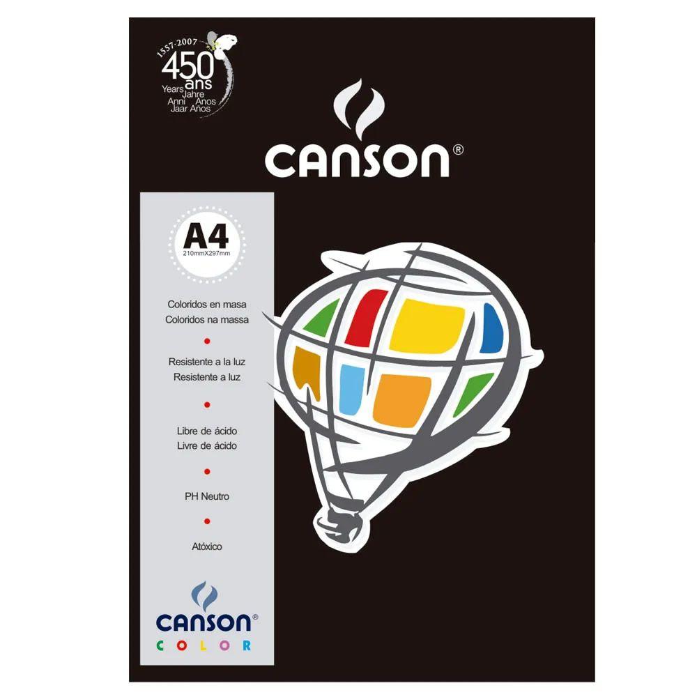 Papel Canson Color Preto 180G/M2 A4 210X297mm 10 Fls 66661211 27882
