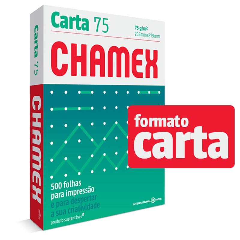 Papel Carta Chamex 75g Com 500 Fls 15637