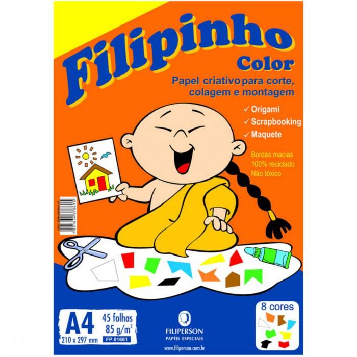 Papel Color A4 Cores Sortidas 85G Com 45 Fls 01661 Filipaper 05419