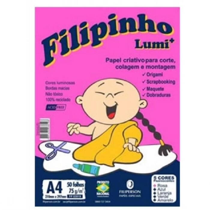 Papel Lumi Color A4 75G Com 50 Fls Cores Sortidas 03819 Filipaper 16910
