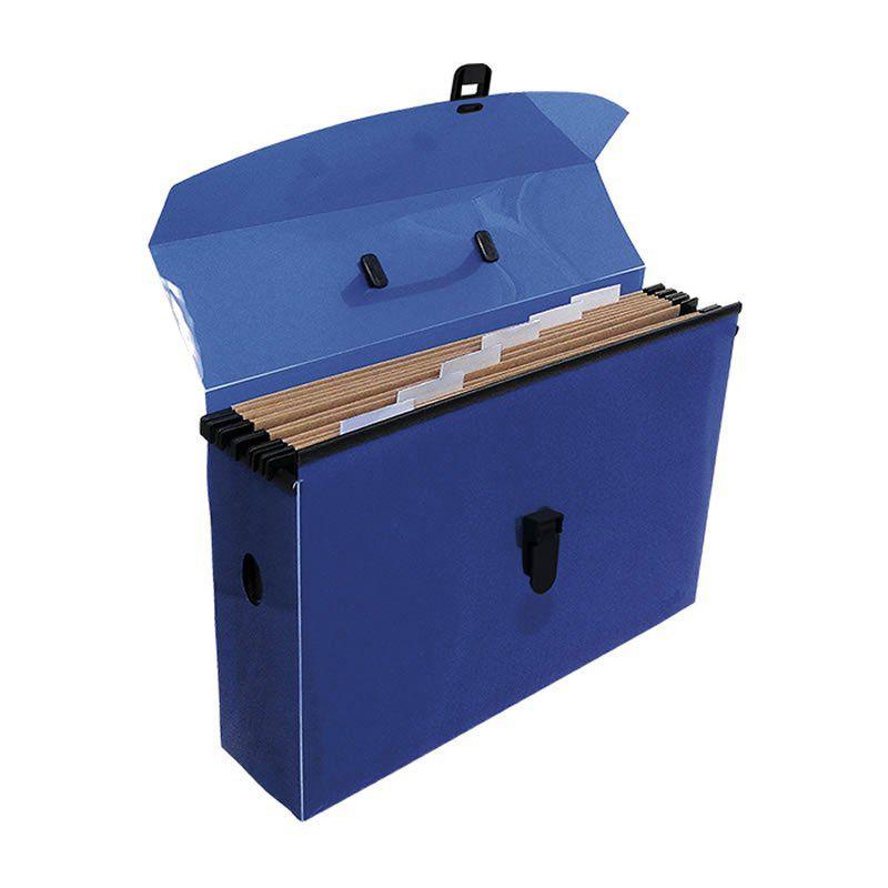 Pasta Arquivo Dello Slim Line Polipropileno Com 6 Pastas Azul Suspensas 2160.C 24679