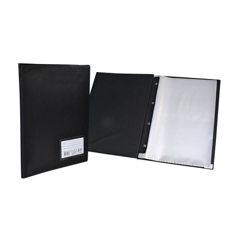 Pasta Catálogo ACP 245X335 com 50 Env Plast 0,06 com Visor Preta 122 02075
