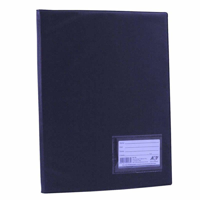 Pasta Catalogo ACP 335X245 Com 20 Env Plast 0,12 PP Line Azul 132 17588