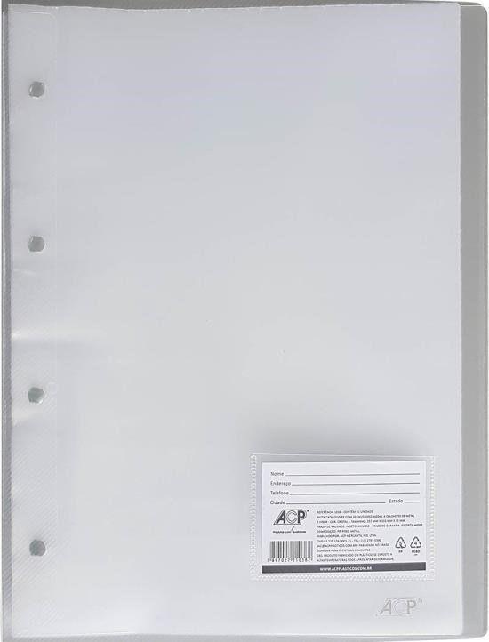 Pasta Catálogo ACP 335X257 com 10 Env Plast 0,12 PP Line Cristal 1037 03076