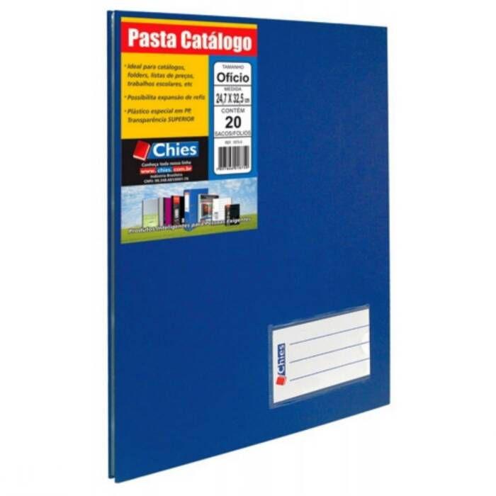 Pasta Catálogo Azul Royal com Parafuso Oficio com 50 SAços Chies 16900