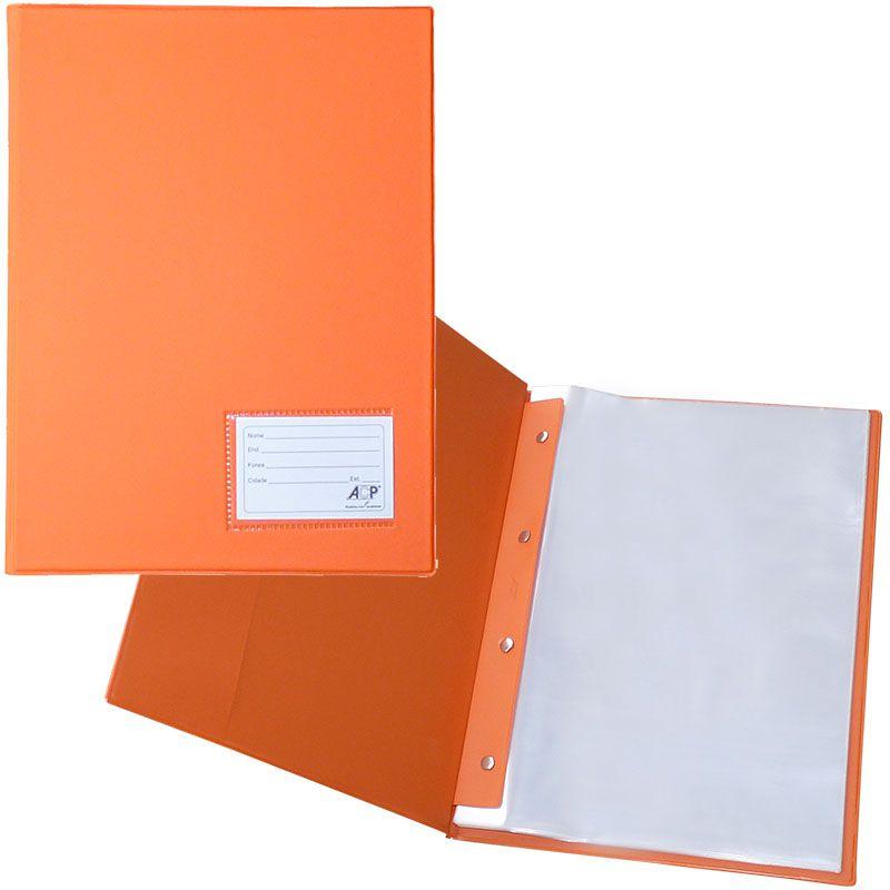 Pasta Catálogo Laranja 335X245 com 20 Envelopes Plast. 0,12 PP Line. 132 ACP 17589
