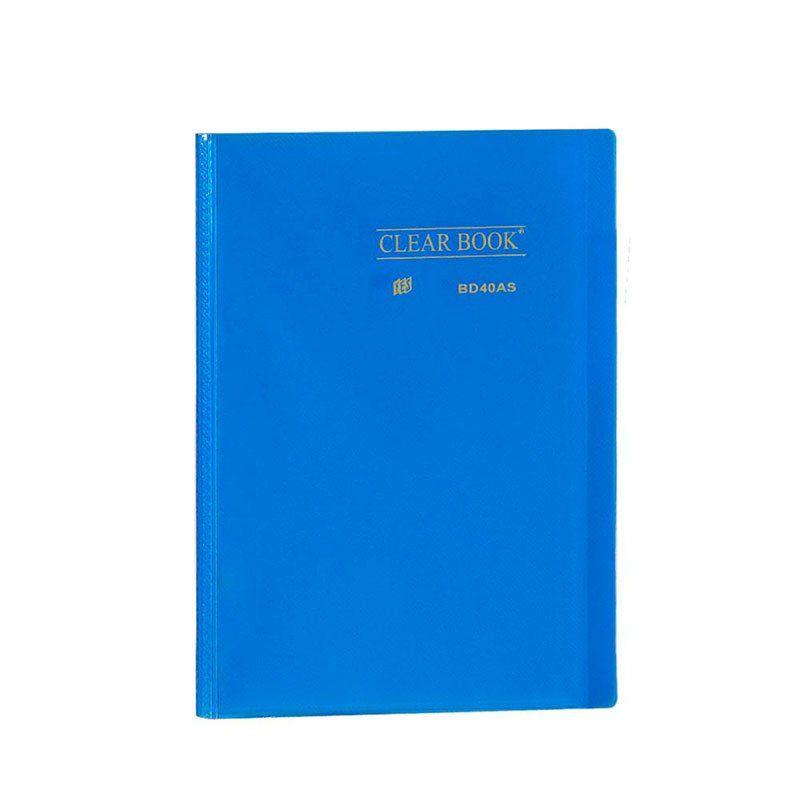 Pasta Catálogo Yes Clear Book com 40 Fls Azul A4 Bd40As 12440