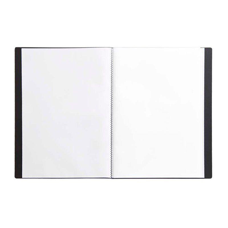 Pasta Catálogo Yes Clear Book com 40 Fls Preta Tp A4 Bd40A Pt 22492