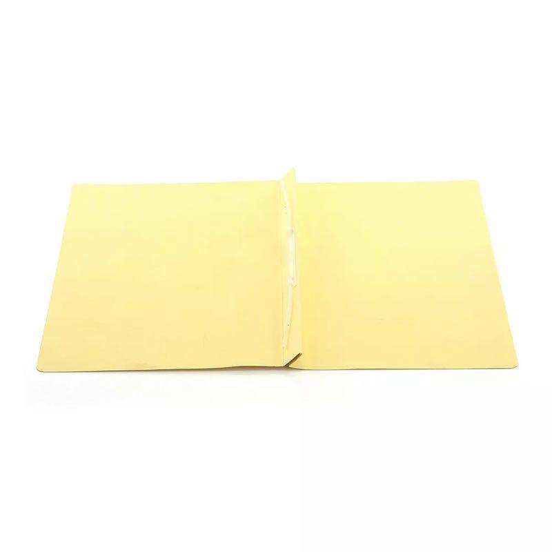 Pasta Classificadora Clean Cartolina Plastificada Amarelo com Grampo Plastico 0205A Dello 08001