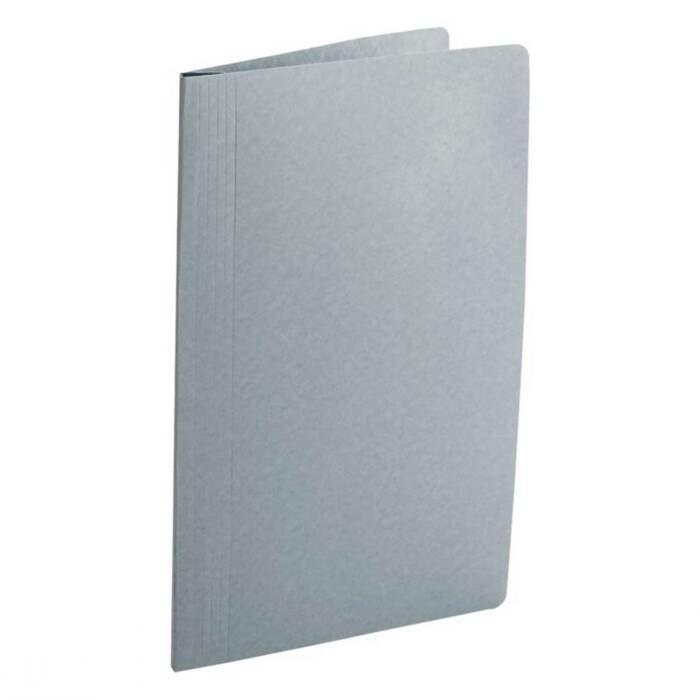 Pasta Classificadora Clean Cartolina Plastificada Cinza com Grampo Plastic. 0205G Dello 08003