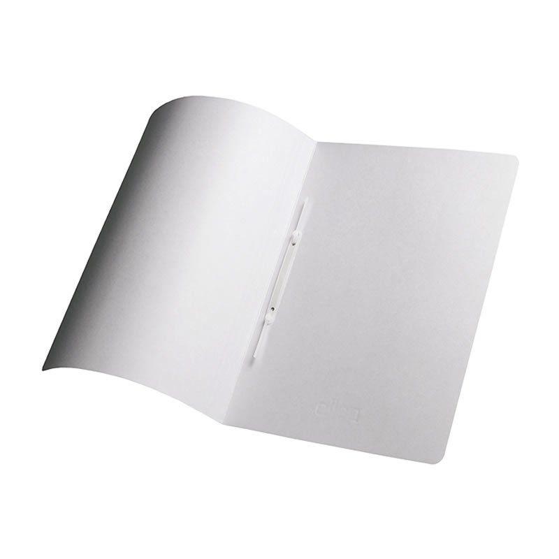 Pasta Dobrada Cartão Triplex Prata Plastificada com Grampo Plastico 0290 Dello 08688