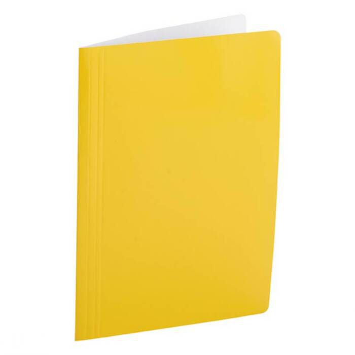 Pasta Dobrada Cartão Triplex Amarelo Plastificada com Grampo Plástico 0290A Dello 08879