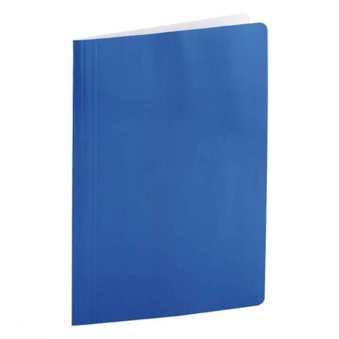 Pasta Dobrada Cartão Triplex Azul Plastificada com Grampo Plastico 0290C Dello 07982