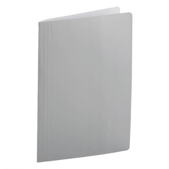 Pasta Dobrada Cartão Triplex Prata Plastificada com Grampo Plastico 029 Dello 08688