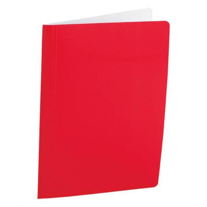 Pasta Dobrada Cartão Triplex Vermelho Plastificada com Grampo Plastico 0290 Dello 07987
