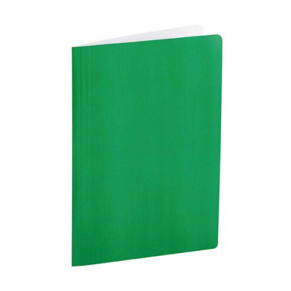 Pasta Dobrada Dello Cartão Triplex Verde Plastificada com Grampo Plastico 0290T 07986