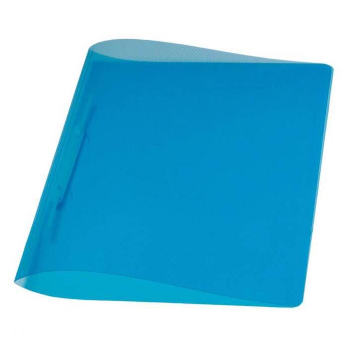 Pasta Dobrada Plast Azul Em PP com Grampo Plastico 0291C Dello 07989