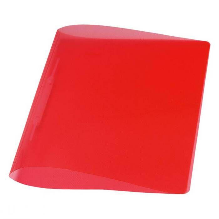 Pasta Dobrada Plast Vermelho Em PP com Grampo Plastico 0291U Dello 07994