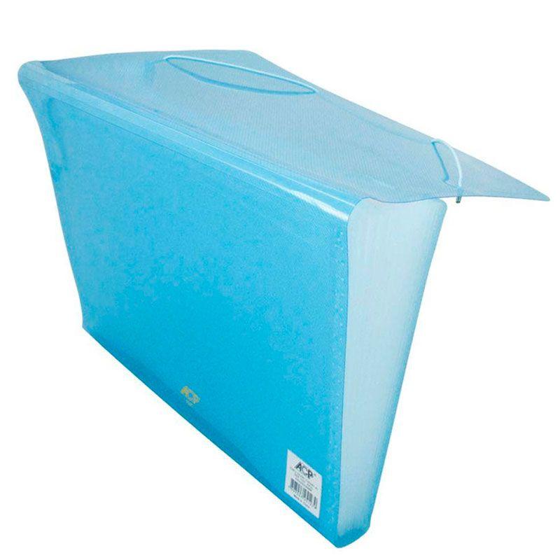 Pasta Sanfonada ACP A4 Com 12 Divisórias PP Line Azul 1027.Az 03047