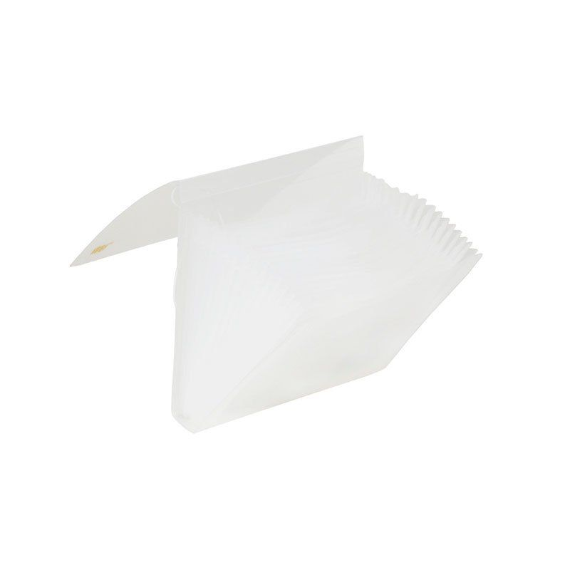 Pasta Sanfonada Yes com Elástico 15 Divisórias Duplicata Cristal Ep15Bs 11402