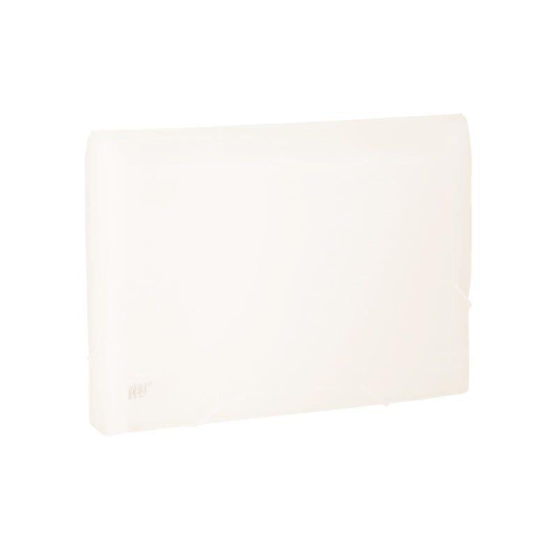 Pasta Sanfonada Yes Grid Com Elástico 12 Divisórias A4 Cristal Ep12Ans 26962
