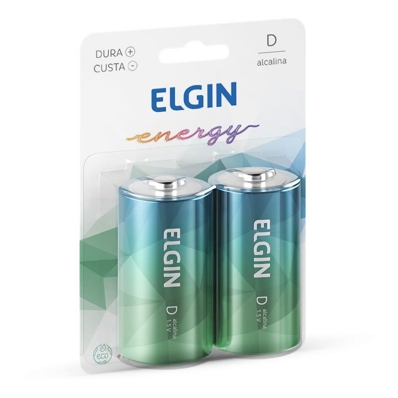 Pilha Elgin Alcalina Grande D 2 Un. 82157 17137