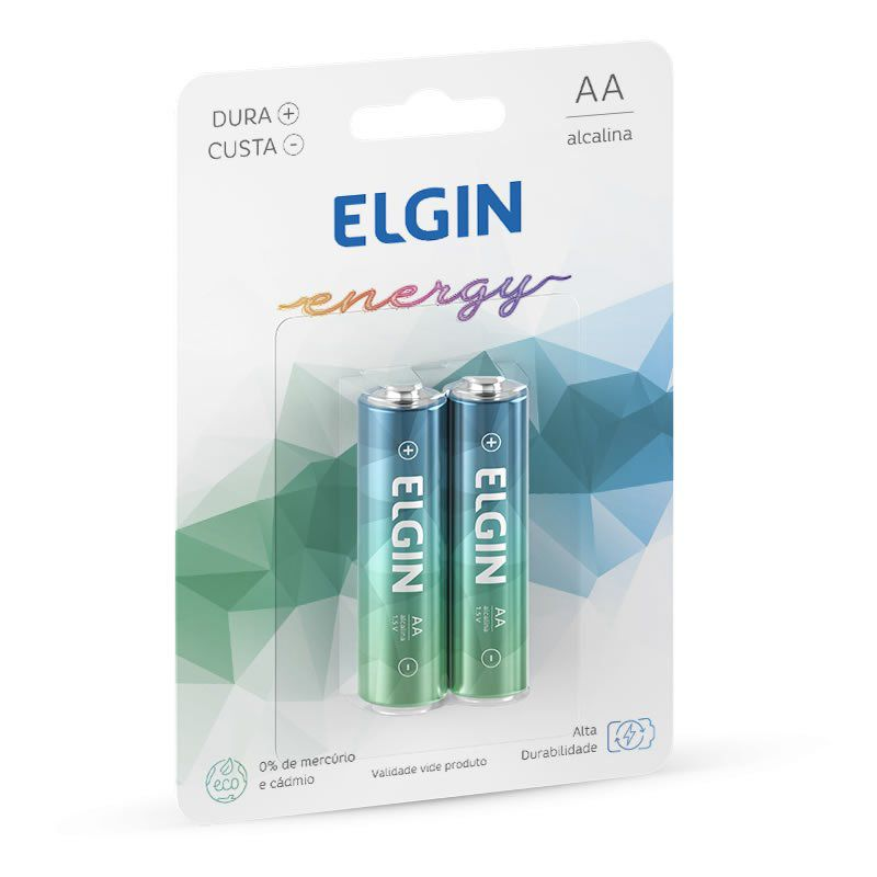 Pilha Elgin Alcalina Pequena AA 2 Un. 82152 16018