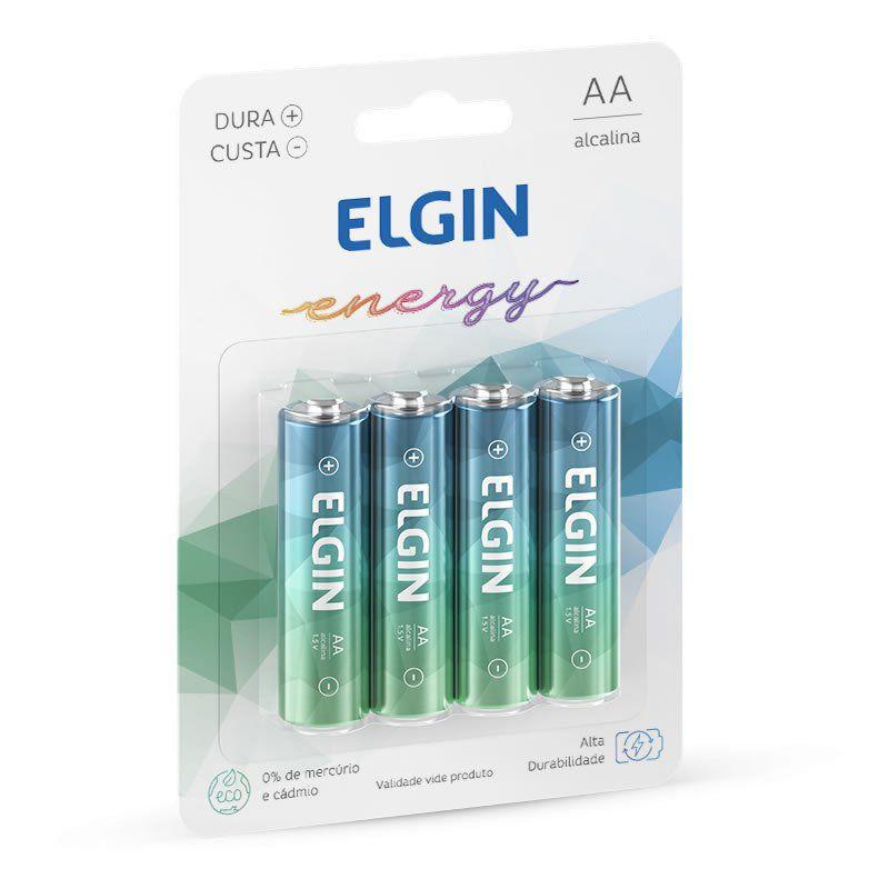 Pilha Elgin Alcalina Pequena AA 4 Un. 82153 16019
